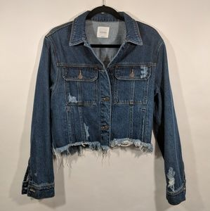 Hidden Jeans Rebel Cropped Oversized Denim Jacket